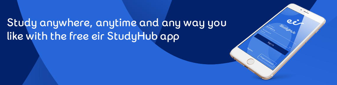 Download the eir StudyHub app