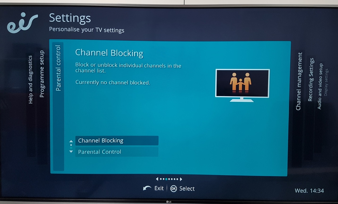 settings channel blocking
