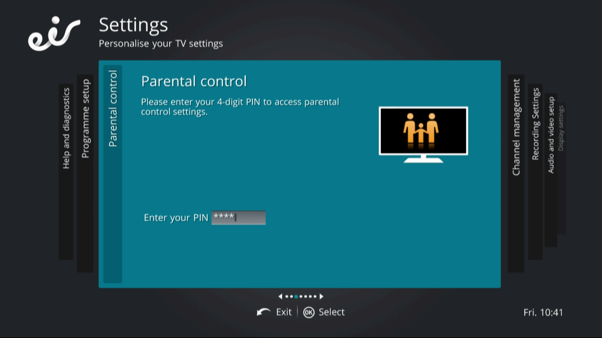 settings parental control